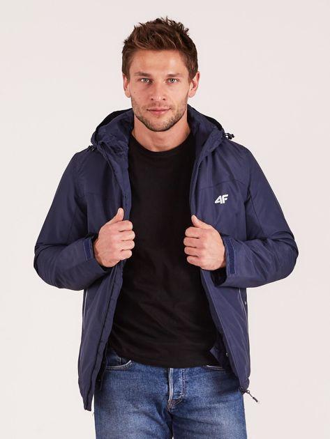 4F Granatowa kurtka narciarska dla mężczyzny                              zdj.                              7