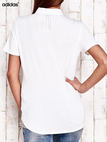 ADIDAS Biała koszulka polo                                   zdj.                                  3