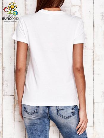 ADIDAS Biały t-shirt z napisem ENGLAND ALL TOGETHER                                  zdj.                                  3