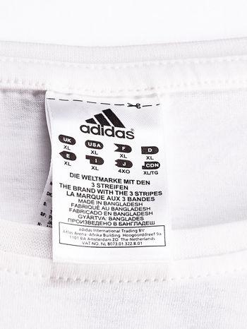 ADIDAS Biały t-shirt z piłkarskim nadrukiem                                  zdj.                                  4