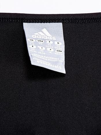 ADIDAS Czarny gładki t-shirt                                   zdj.                                  4