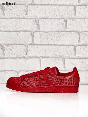 ADIDAS czerwone buty męskie Superstar Collegiate Red o dziurkowej fakturze                              zdj.                              5