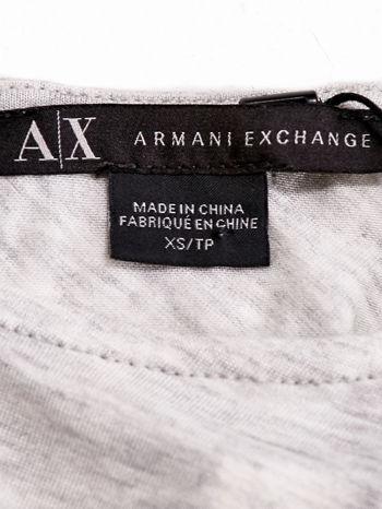 ARMANI Jasnoszary t-shirt z drapowanymi rękawami                                  zdj.                                  4