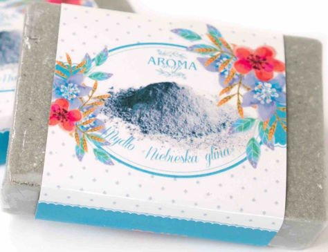 AROMA Soap NATURALNE Mydło NIEBIESKA GLINA 80 g                              zdj.                              1