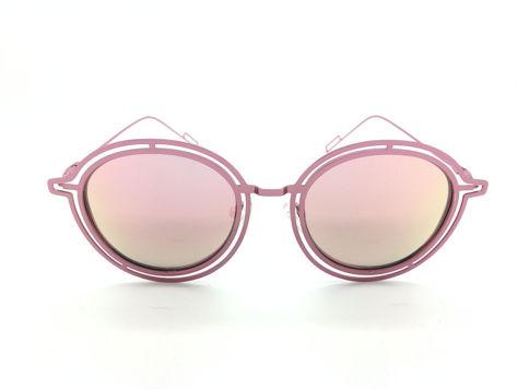 ASPEZO Okulary przeciwsłoneczne POLARYZACYJNE damskie różowe MAJORCA. Etui skórzane, etui miękkie oraz ściereczka z mikrofibry w zestawie                              zdj.                              1