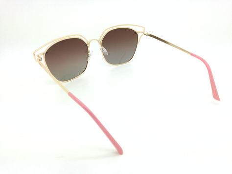 ASPEZO Okulary przeciwsłoneczne POLARYZACYJNE damskie złote SEUL Etui skórzane, etui miękkie oraz ściereczka z mikrofibry w zestawie                              zdj.                              3