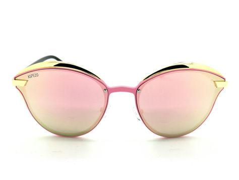 ASPEZO Okulary przeciwsłoneczne damskie POLARYZACYJNE różowe BALI Etui skórzane, etui miękkie oraz ściereczka z mikrofibry w zestawie                              zdj.                              1