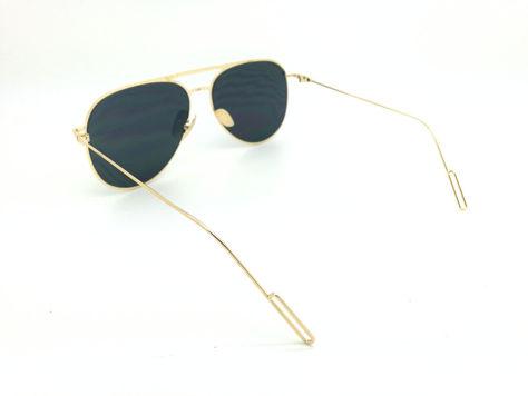 ASPEZO Okulary przeciwsłoneczne damskie czarno-złote BARCELONA. Etui skórzane, etui miękkie oraz ściereczka z mikrofibry w zestawie                              zdj.                              3