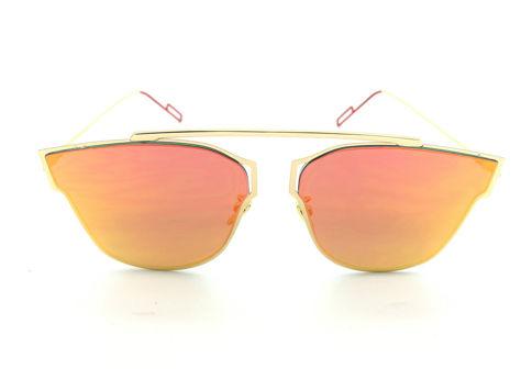 ASPEZO Okulary przeciwsłoneczne damskie pomarańczowe HAWAII Etui skórzane, etui miękkie oraz ściereczka z mikrofibry w zestawie