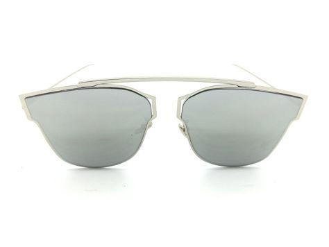 ASPEZO Okulary przeciwsłoneczne damskie srebrno-złote HAWAII. Etui skórzane, etui miękkie oraz ściereczka z mikrofibry w zestawie                              zdj.                              1