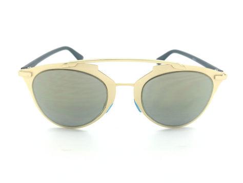 ASPEZO Okulary przeciwsłoneczne damskie złote MONTREAL. Etui skórzane, etui miękkie oraz ściereczka z mikrofibry w zestawie                              zdj.                              1