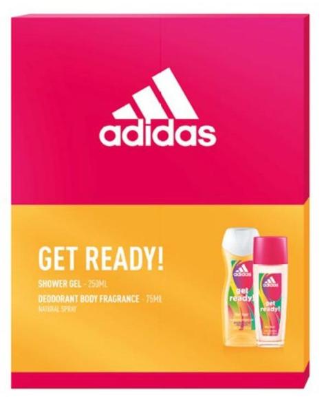 """Adidas Zestaw prezentowy Get Ready! (żel pod prysznic 250ml+deo naturalny spray 75ml)"""""""