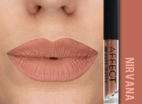 Affect Pomadka w płynie Liquid Lipstick Soft Matte Nirvana 5 ml                                  zdj.                                  1