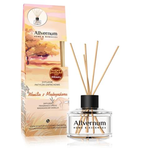 """Allvernum Home & Essences Dyfuzor z patyczkami zapachowymi Wanilia z Madagaskaru 1op."""""""