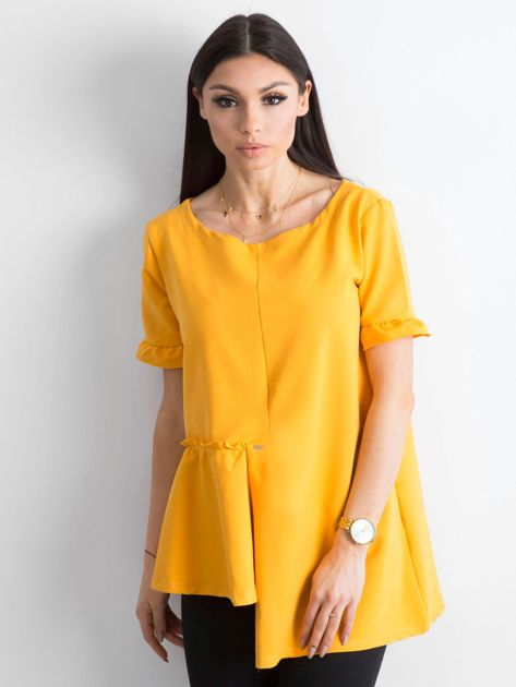 Asymetryczna bluzka żółta                              zdj.                              1