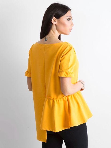 Asymetryczna bluzka żółta                              zdj.                              2