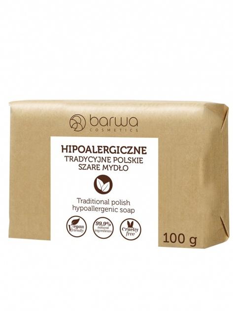 BARWA Hipoalergiczne Tradycyjne polskie szare mydło 100 g