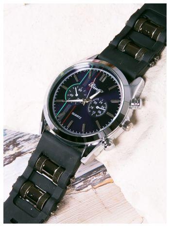 BINGO nowoczesny męski zegarek na miękkim żelowym pasku MEN'S MILITARY STYLE                                  zdj.                                  1