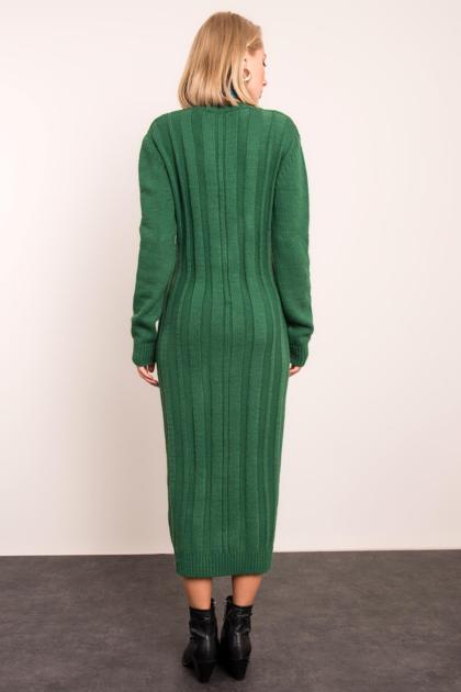 BSL Zielona sukienka dzianinowa                              zdj.                              4