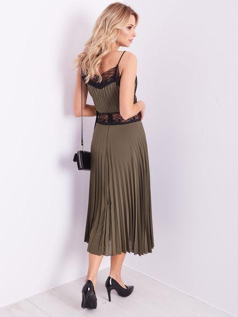 BY O LA LA Khaki wieczorowa sukienka maxi                              zdj.                              11