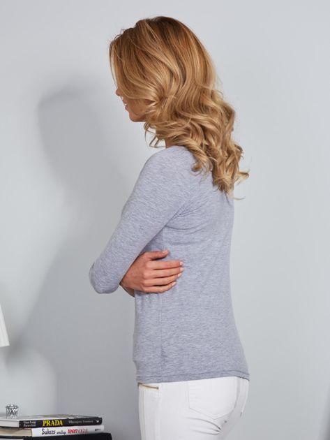 Bawełniana bluzka z guzikami jasnoszara                              zdj.                              5