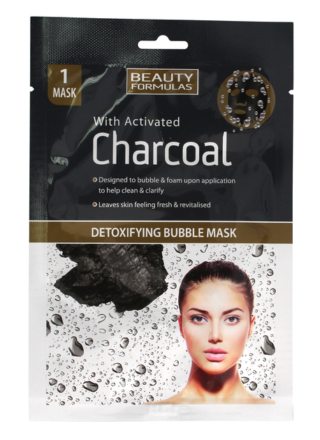 """Beauty Formulas Charcoal Maseczka detoksykująca bąbelkowa z aktywnym węglem  1szt"""""""