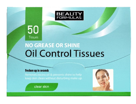 "Beauty Formulas Skin Care Bibułki matujące"""