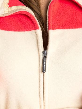 Beżowa bluza polarowa z kapturem z uszkami                                  zdj.                                  5