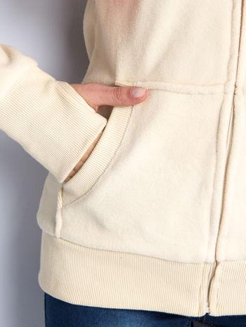 Beżowa bluza polarowa z kapturem z uszkami                                  zdj.                                  11