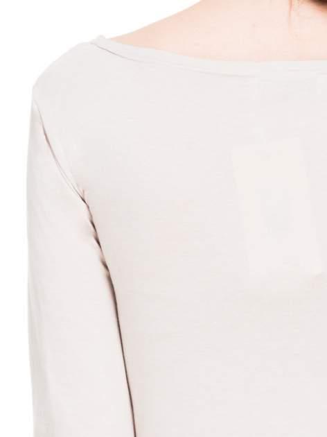 Beżowa bluzka tunika z marszczonym dołem                                  zdj.                                  8