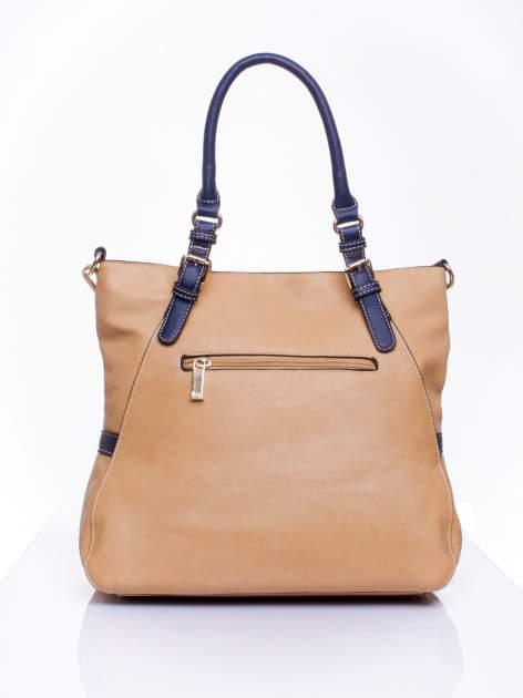 Beżowa dziurkowana torba shopper z portfelem                                  zdj.                                  3