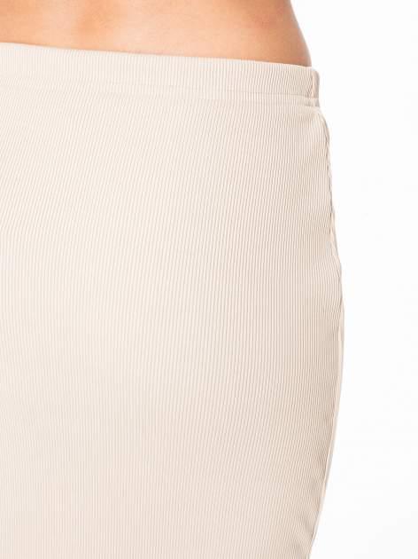 Bezowa spódnica midi z suwakiem z przodu                                  zdj.                                  6