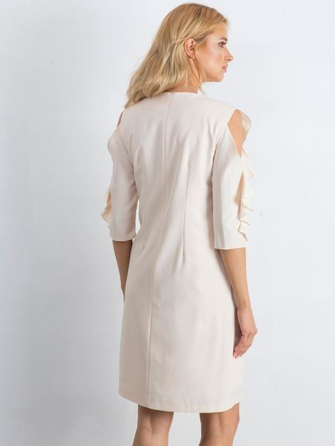 Beżowa sukienka Brilliance                              zdj.                              2