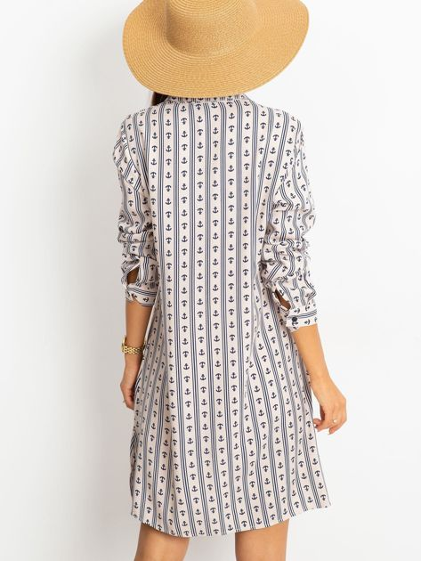 Beżowa sukienka Captain                              zdj.                              2