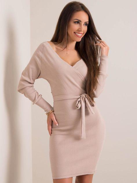 Beżowa sukienka Dolce RUE PARIS