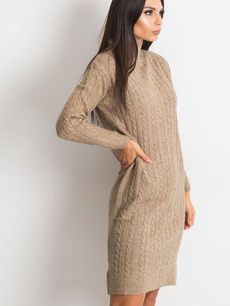 Beżowa sukienka Evermore                              zdj.                              5