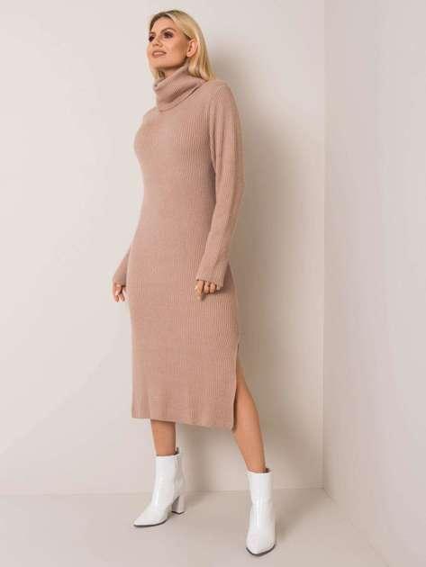 Beżowa sukienka Jimena