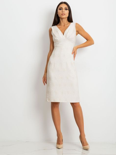 Beżowa sukienka Lalima                              zdj.                              4