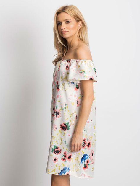 Beżowa sukienka Perfectly                              zdj.                              3