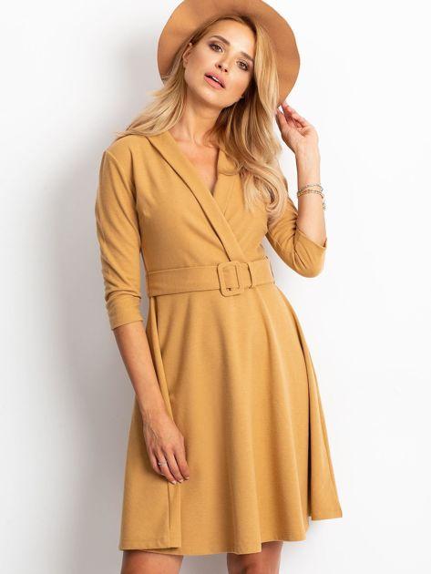 Beżowa sukienka Special                              zdj.                              1