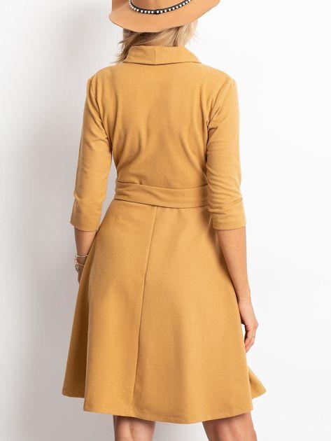 Beżowa sukienka Special                              zdj.                              2