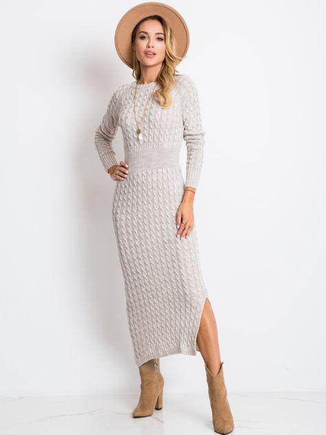 Beżowa sukienka Travel                              zdj.                              1