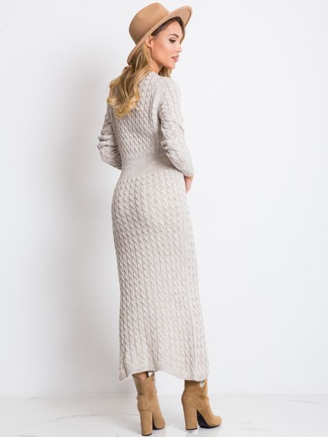 Beżowa sukienka Travel                              zdj.                              2