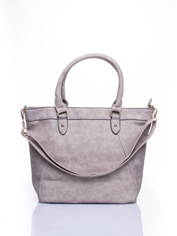 Beżowa torba city bag na ramię