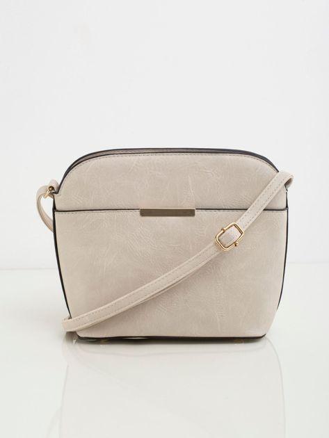 Beżowa torebka damska z ekoskóry