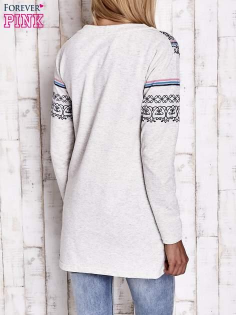 Beżowa tunika w orientalne wzory                                  zdj.                                  5