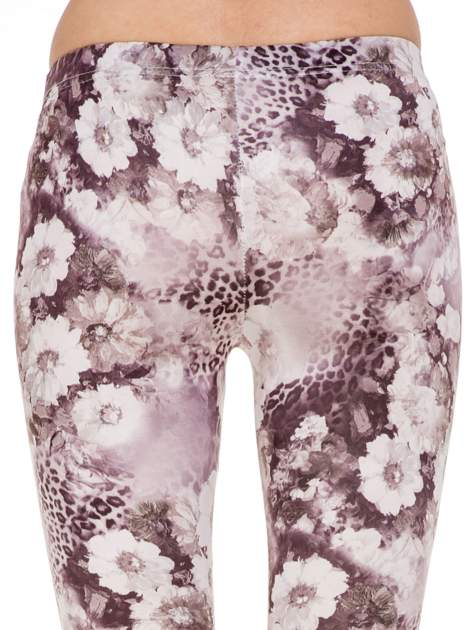 Beżowe legginsy w kwiaty                                  zdj.                                  7