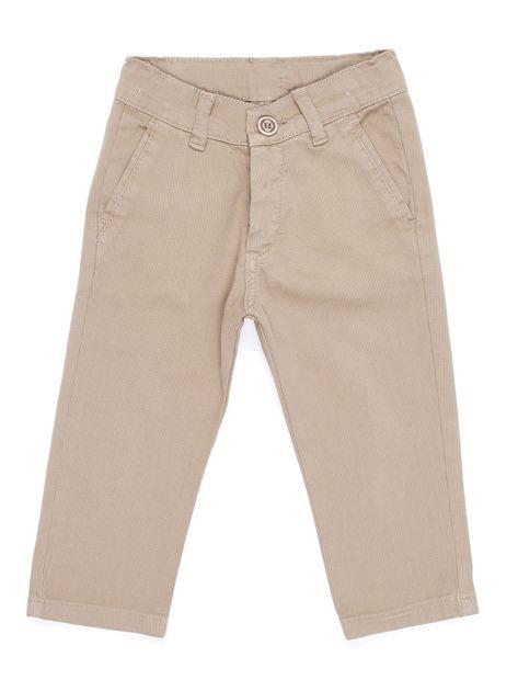 Beżowe materiałowe spodnie dla chłopca                               zdj.                              1