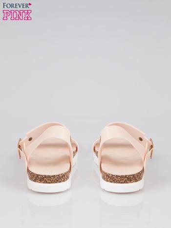 Beżowe sandały damskie z blaszką                                  zdj.                                  3