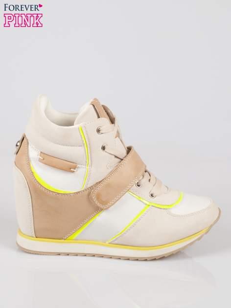 Beżowe sneakersy damskie w stylu casual